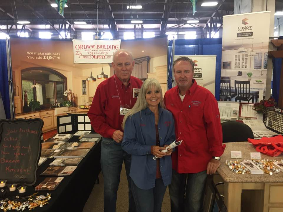 The OBS Crew: Quinten Reeves, Shelly Lisac and Jim Reeves at the 2017 HBA Home & Outdoor Living Expo